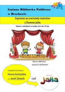 plakat Warsztaty teatralne-1
